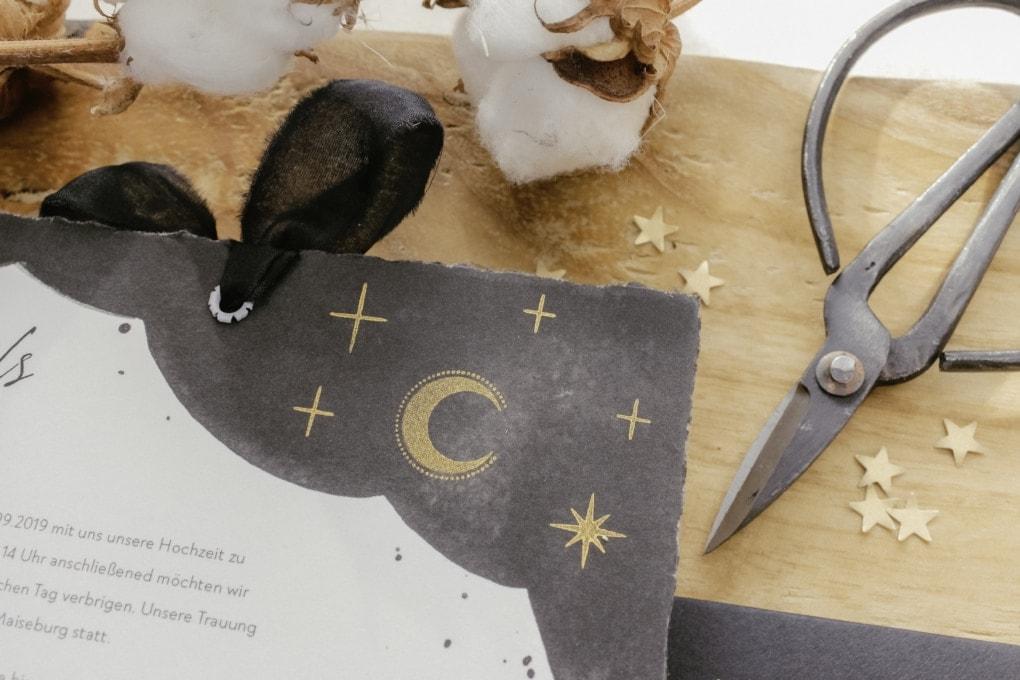 Mond & Sterne Einladung