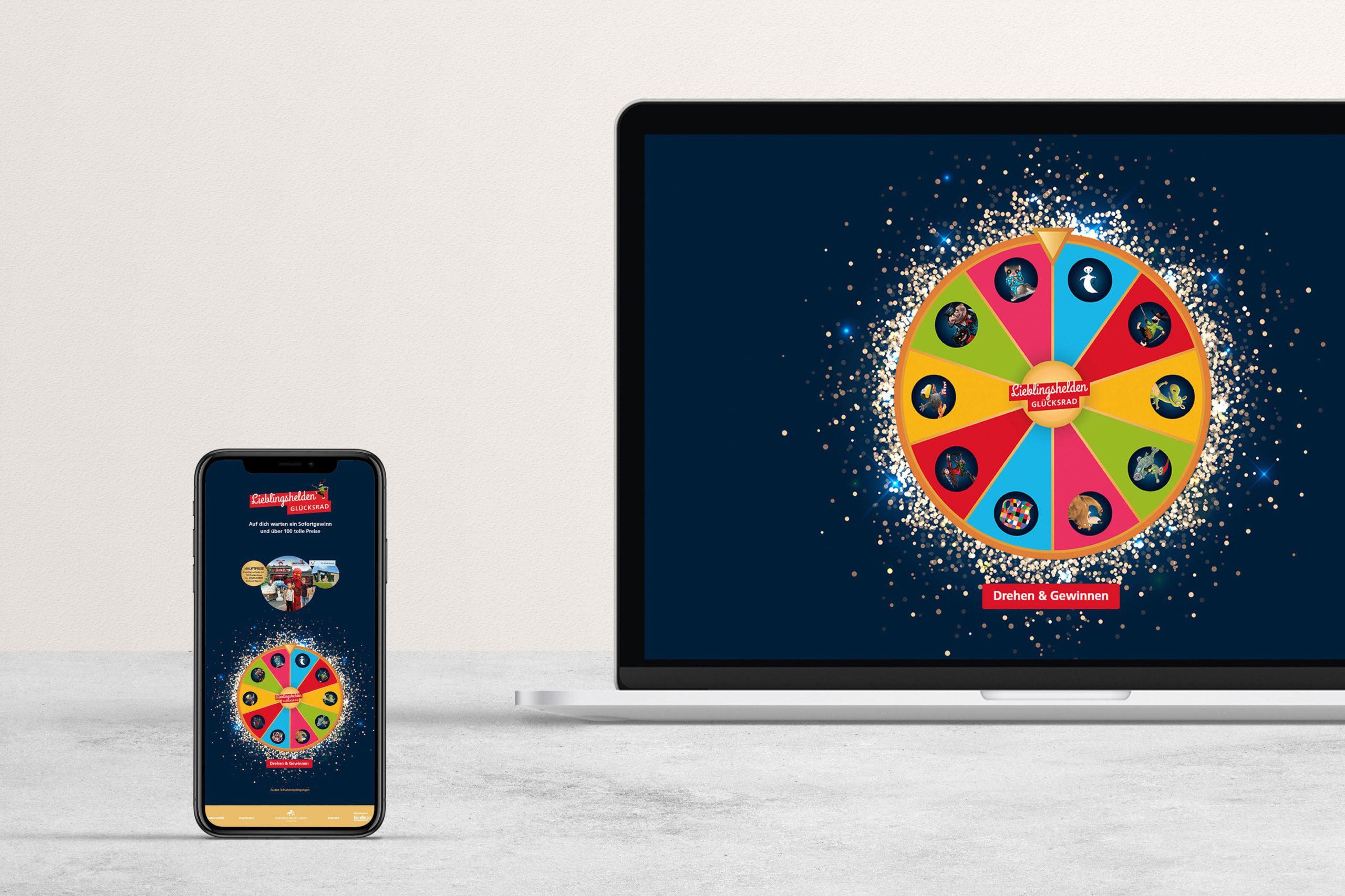 Grafikdesign Website Glücksrad