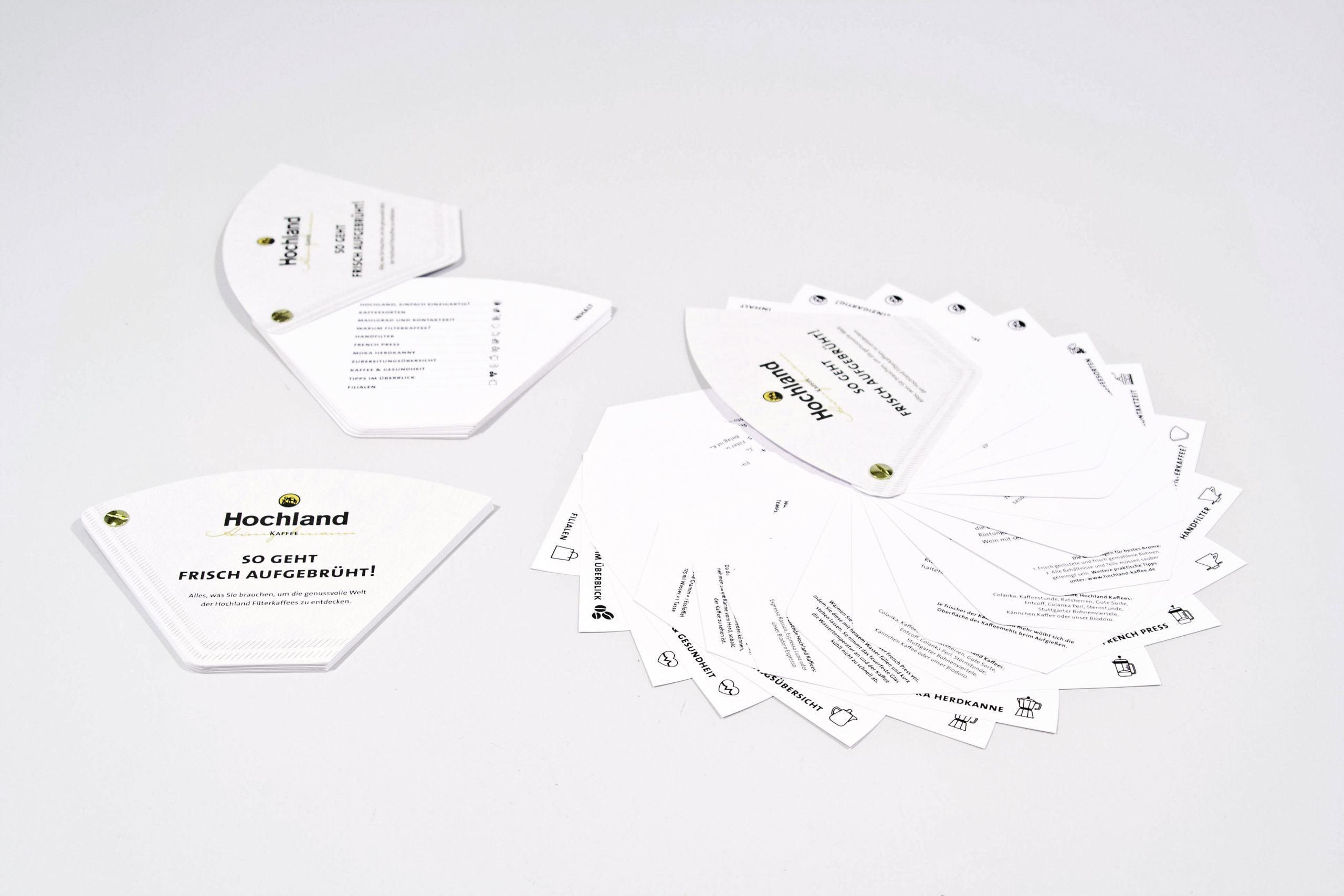 Grafikdesign Broschüre Filterkaffee