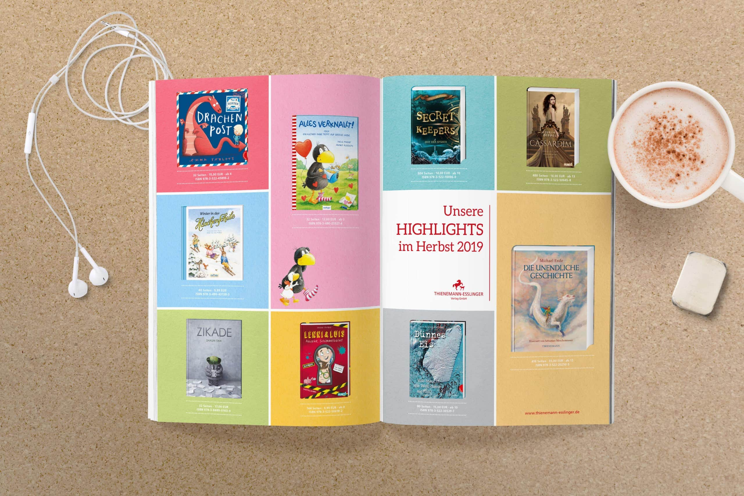 Grafikdesign Anzeige Kinderbücher