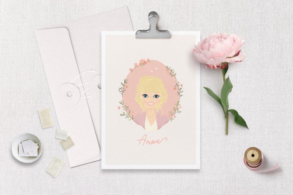 Illustration farbig Mono