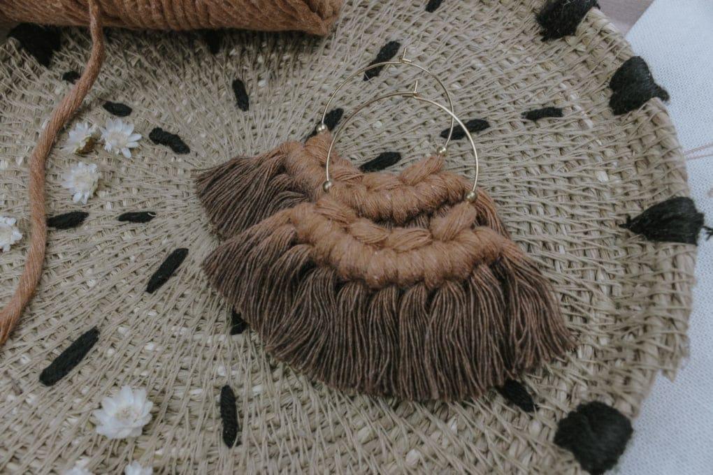 Boho Ohrringe Terracotta