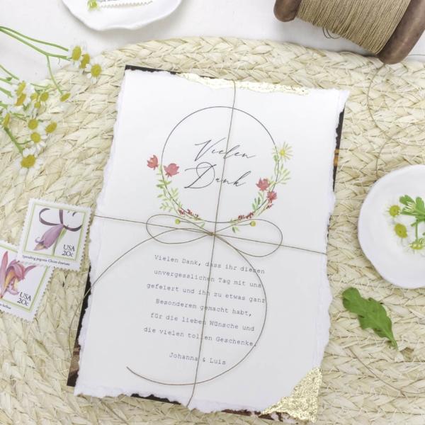 Miss Hanami Nature Love Dankeskarte
