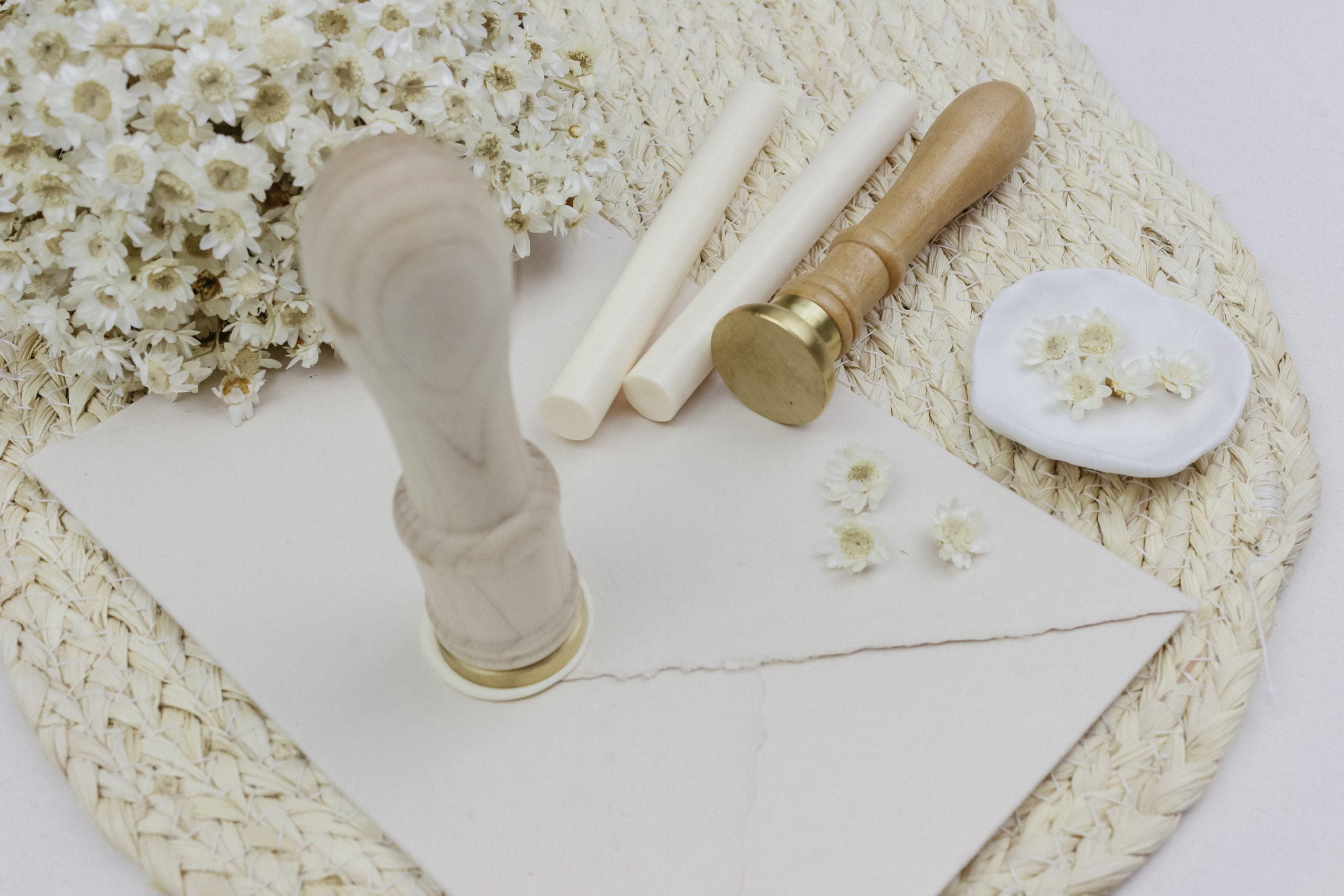 Hochzeitspapeterie Wachssiegel