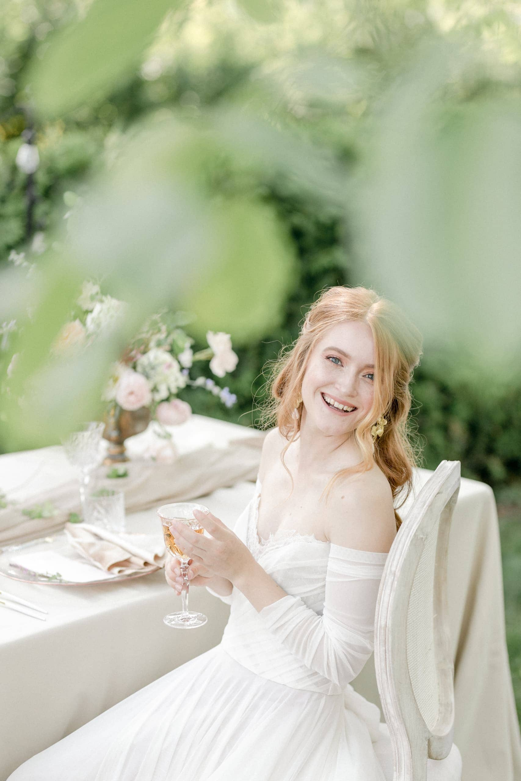 Gartenhochzeit Pastell Fine Art Braut
