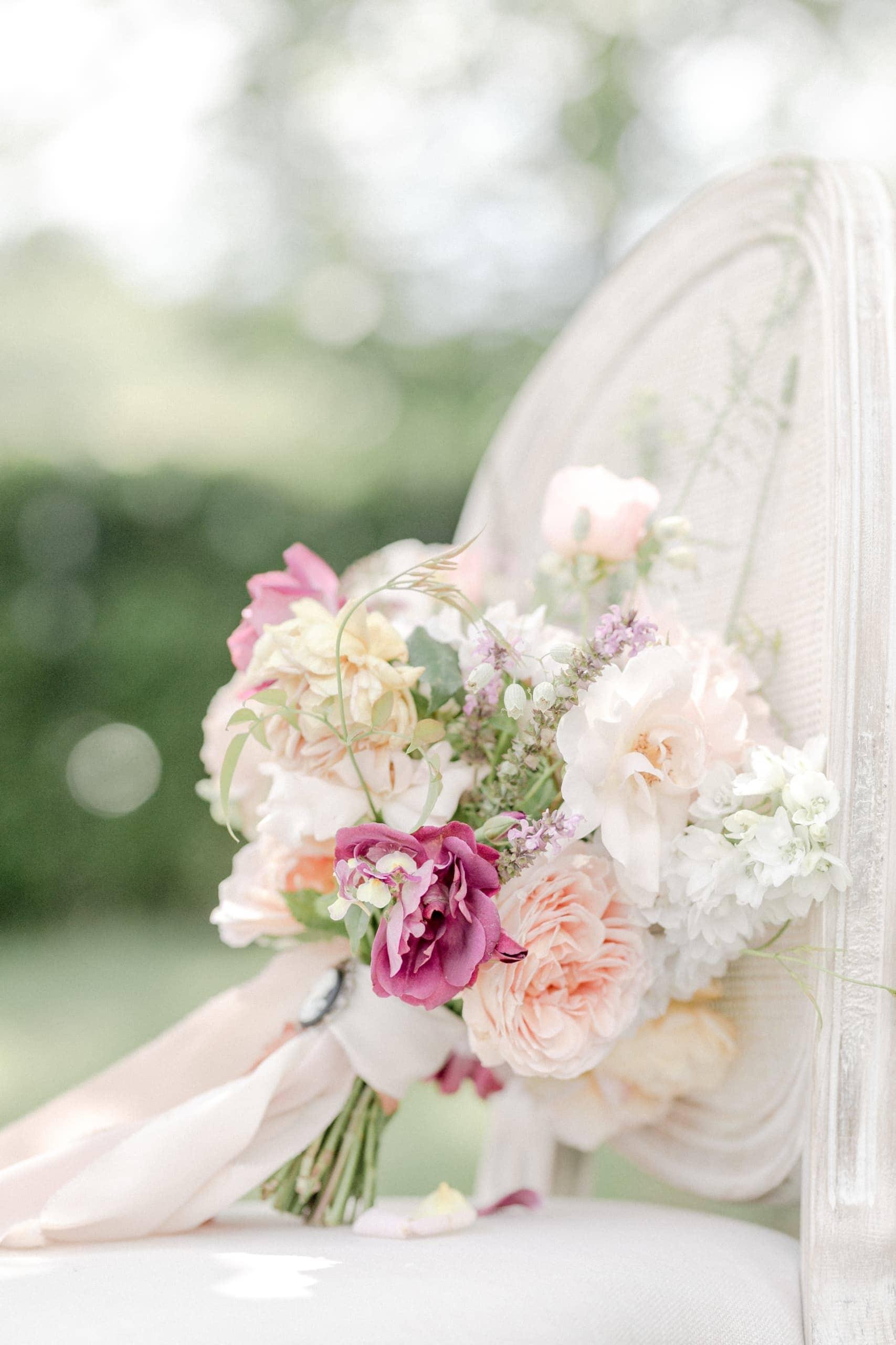 Gartenhochzeit Pastell Fine Art Brautstrauß