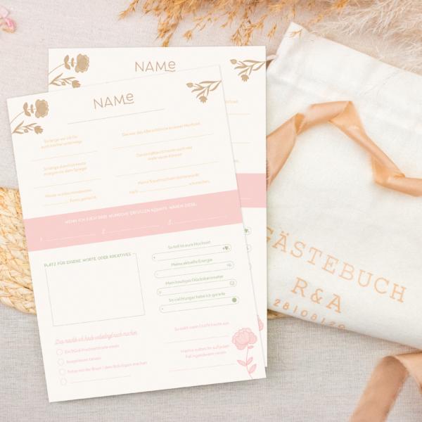 Miss Hanami Gästebuch pastell