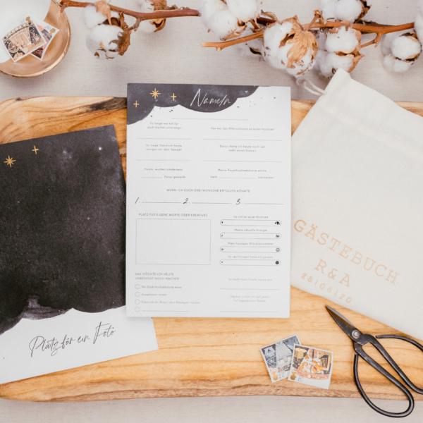 Mond & Sterne Gästebuch
