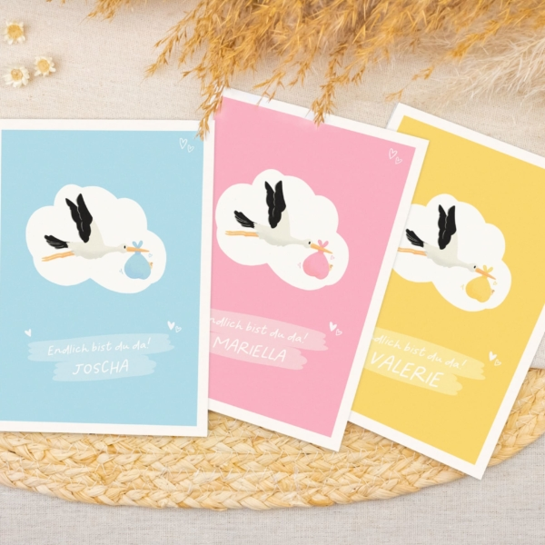 Miss Hanami Geburtskarte personalisiert