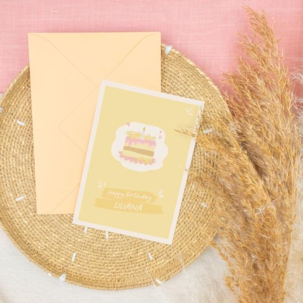 Miss Hanami Geburtstagskarte personalisiert