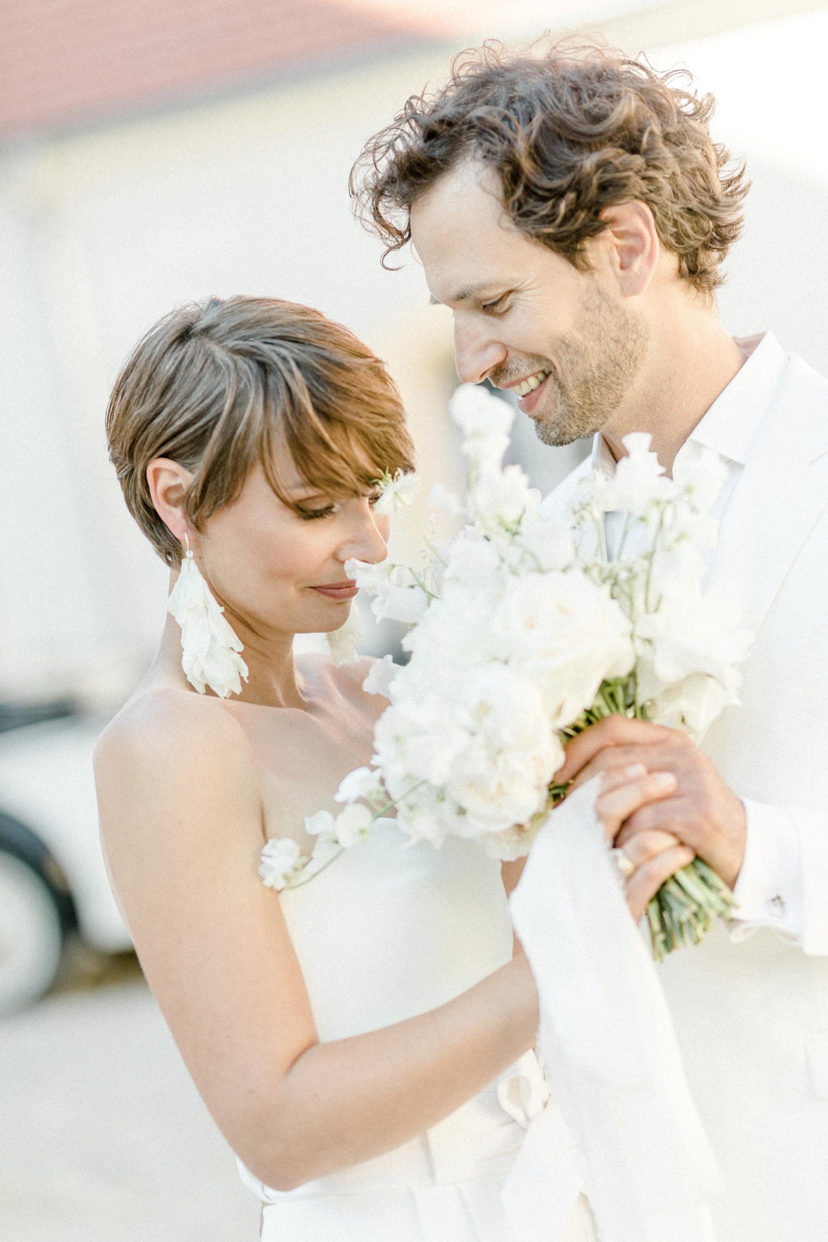 White Wedding Pour l'amour Fine Art Brautstrauß