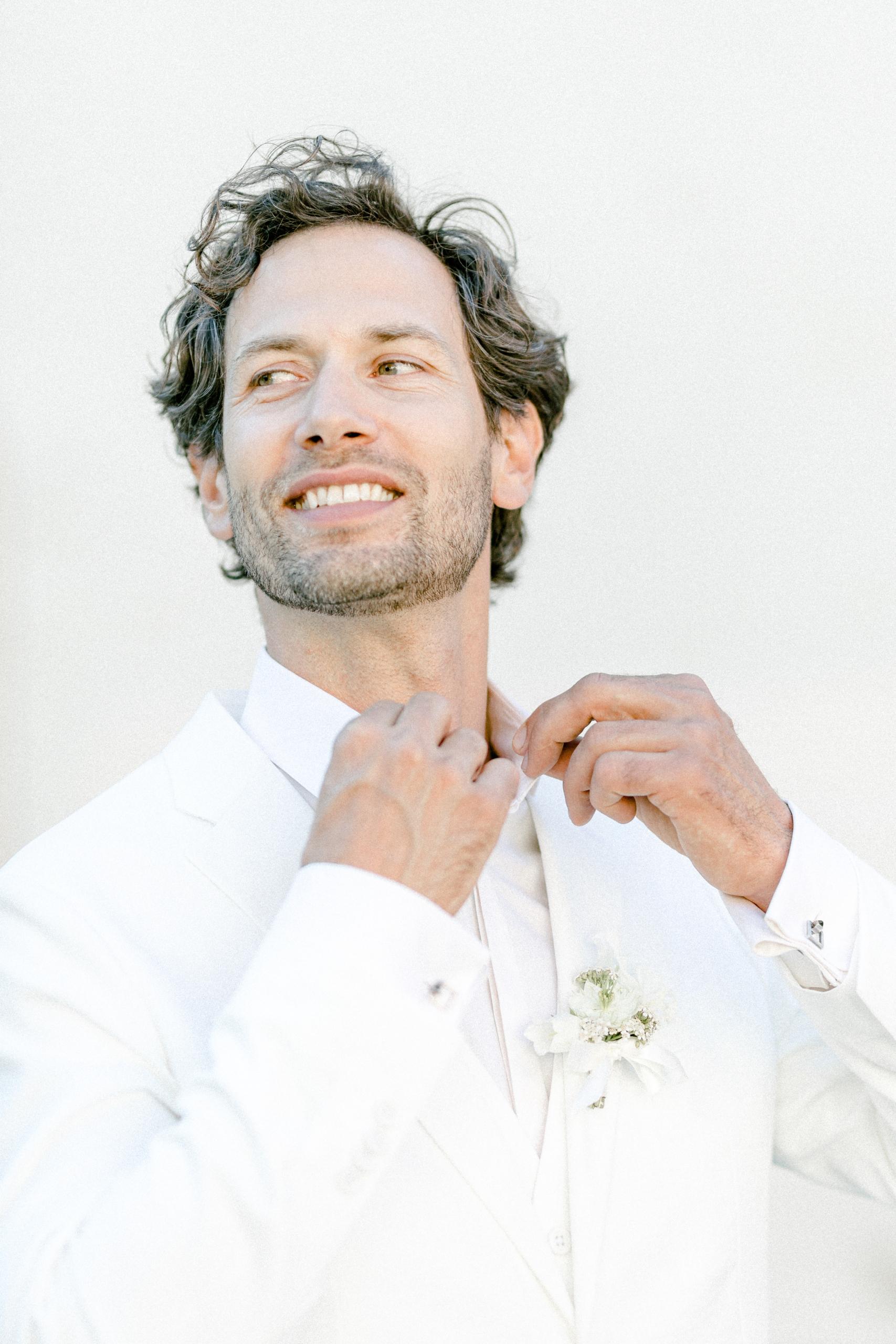 White Wedding Pour l'amour Anzug weiß