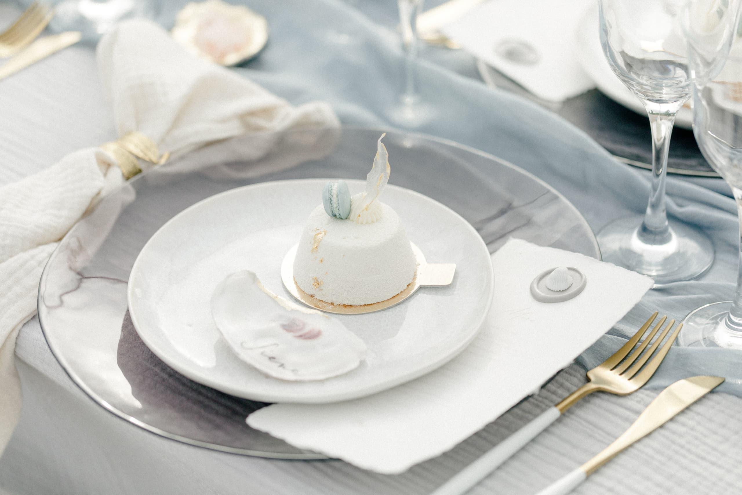 See Hochzeit Fine Art Papeterie Menükarte