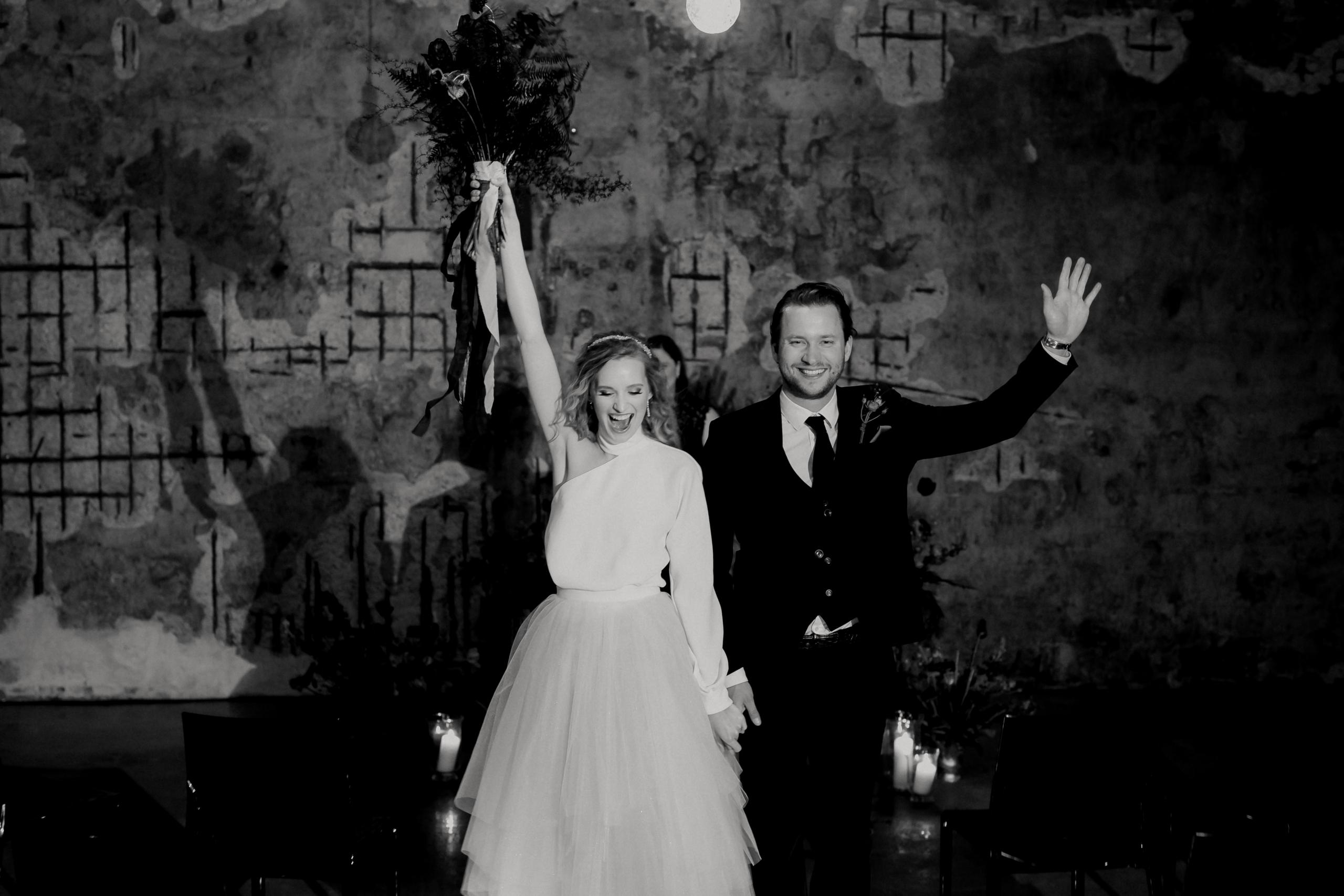 Dark Romance Black & Pink | Rosa & Schwarz Hochzeit industrial Kraftwerk Rottweil Trauung EH
