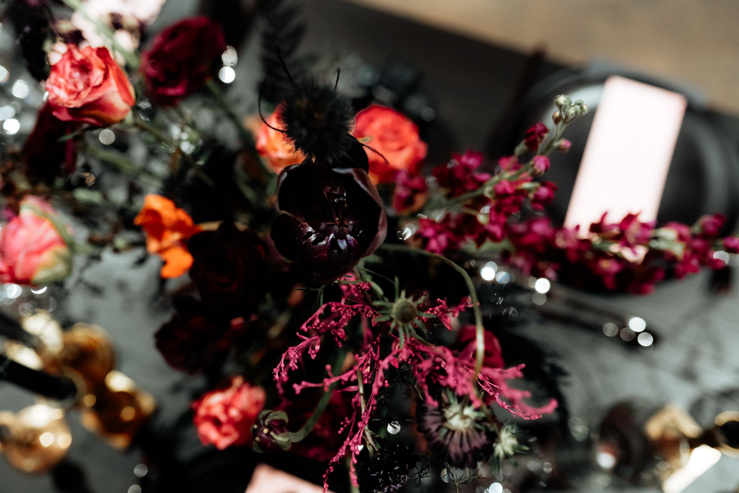 Dark Romance Black & Pink | Rosa & Schwarz Hochzeit industrial Kraftwerk Rottweil Drinks EH